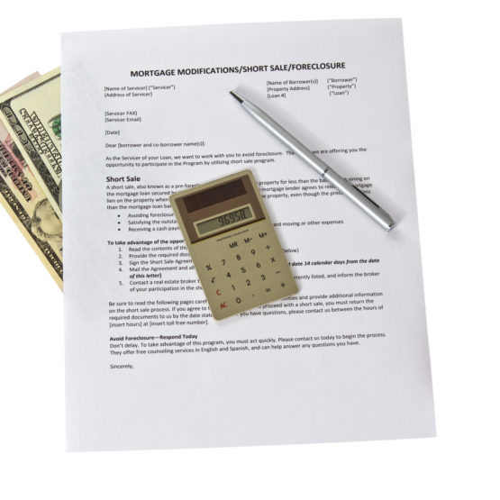 short sale paperwork cash