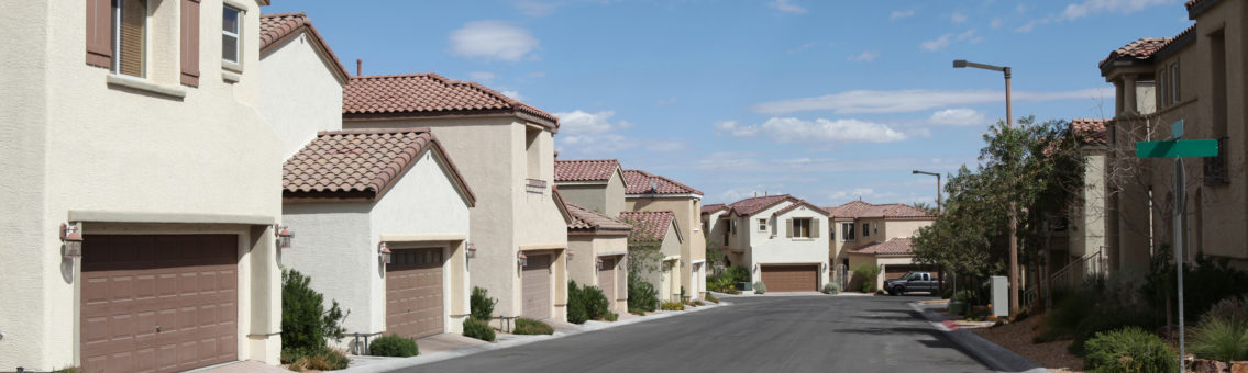 las vegas row of homes for sale